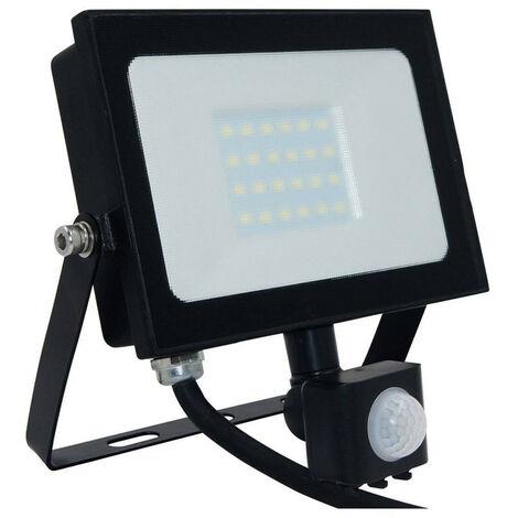 Phoebe LED Floodlight 20W Atlas-Mini PIR Sensor IP65 (100W Equivalent) 4000K Cool White Black 1500lm Floodlights Security Motion External Outdoor Auto Weatherproof Light