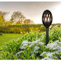 Phoebe LED Garden Spike Flame Light Atmosphere Black Effect Outdoor Decking External Patio