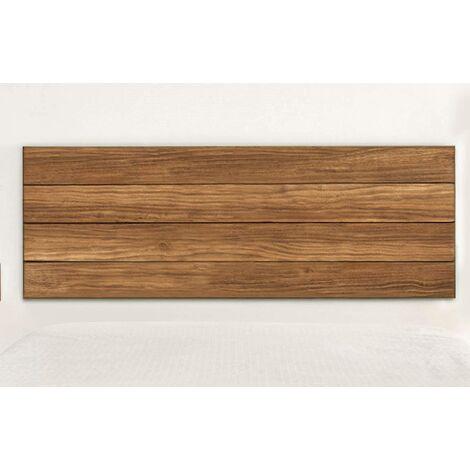 Cabecero madera maciza natural acabado encerado