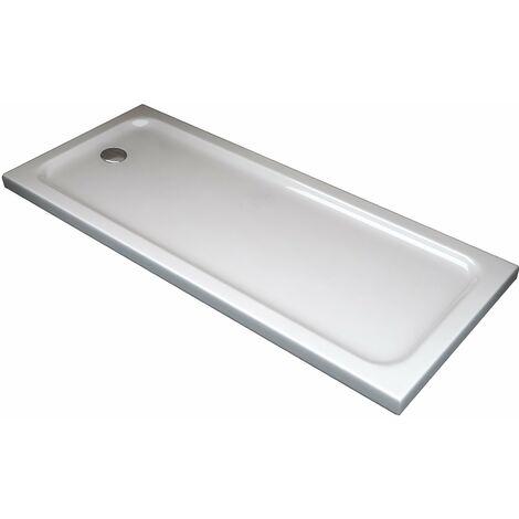 Receveur de douche rectangulaire surbaissé en Abs avec bonde inclus H. 5 cm – 80 x 180