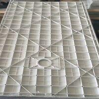 Receveur de douche  SMC en fibre de verre effet pierre avec bonde inclus H. 2,6 cm 70 x 90 Blanche
