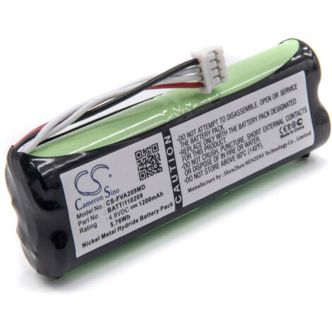 vhbw Battery Replacement for 120209, BATT/110209 for Medical Equipment (1200mAh, 4.8V, NiMH)