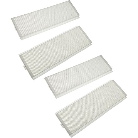 vhbw Filter Set compatible with Zehnder ComfoAir Q 350, Q 450 Ventilation Devices - Air Filter G4 / F7 (4-Part Kit), 50 x 16 x 4 cm, White