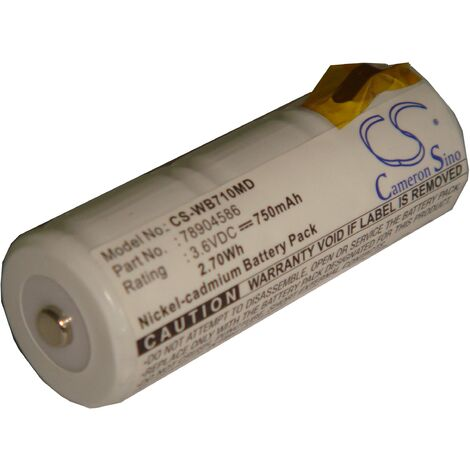 vhbw Battery Replacement for 78904586 for Medical Equipment (750mAh, 3.6V, NiCd)