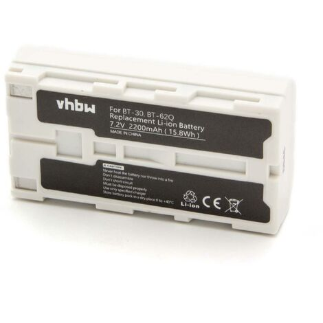 vhbw Replacement Battery compatible with Topcon Field Controller FC2000, FC-2000, FC-2200, FC-2500, GMS-2 Measuring Devices (2200mAh, 7.4V, Li-Ion)