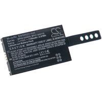 vhbw Replacement Battery compatible with Wasp DT10, DT10RF, DT10RF 2D Barcode Scanner POS (1100mAh, 3.7V, Li-Ion)