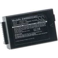 vhbw Replacement Battery compatible with Psion Workabout Pro 7525C-G1, 7525S-G1, 7527C-G2, 7527C-G3 Handheld Mobile Computer (3300mAh, 3.7V, Li-Ion)