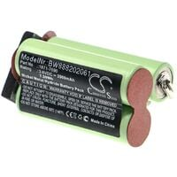 vhbw Replacement Battery compatible with Moser Wella Academy ChromStyle Electric Hair Trimmer (2000mAh, 3.6V, NiMH)