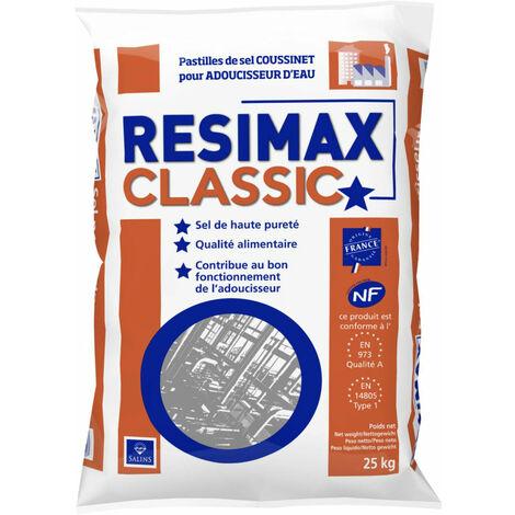 Sel pour adoucisseur SALINS DU MIDI Past Resimax PRO sac de 25kg, Ref.114420