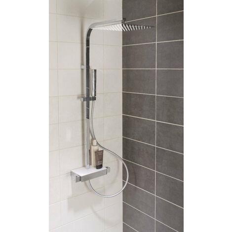 Colonne douche ALTERNA avec mitigeur thermostatique DOMINO, chrome, Ref.B366303