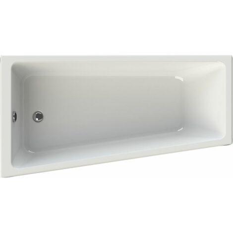 Baignoire asymetrique gauche ALTERNA CONCERTO acrylique blanc 170X90/65G