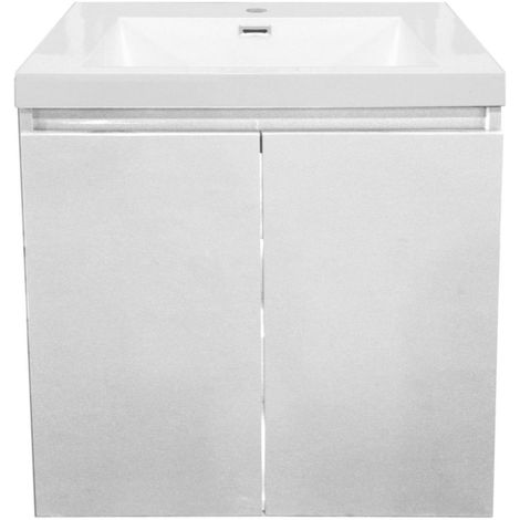 Meuble sous vasque ALTERNA Primeo 60 cm 2 portes suspendu, blanc, Ref.1A060118.JM.PW