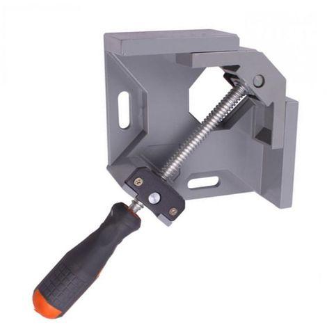 Aluminium simple poignée 90 degrés angle droit pince angle pince cadre de travail du bois Clip angle droit dossier outil Sasicare