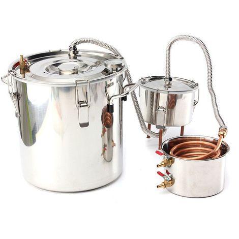 alcool Distillateur d'eau Moonshine chaudière en cuivre 8 Gallon 35L inoxydable avec f?t de thumper Sasicare