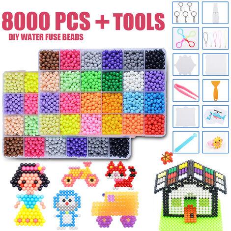 24 Couleurs 8000 Perles Eau Artisanat Collant Perles pour Enfants Enfants DIY Artisanat éducatifs