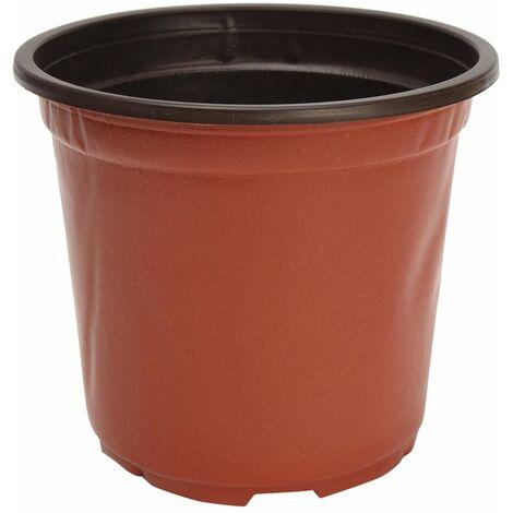 100pcs Pot De Fleur Rond en Plastique Jardin Plantes Jardinière Balcon Maison 11*8.5*9.5cm Sasicare