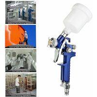 1.0mm pulvérisateur HVLP Kit de Machine de peinture en aérosol Air Set Outil de peinture d'alimentation automatique de voiture de gravité