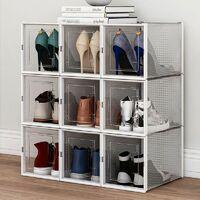 6pc Empilables Boite à chaussures Transparent boite de rangement tiroir Rack chaussures (904 (x6))