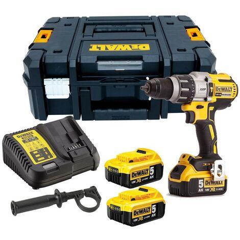 Dewalt DCD996P3 18v XR 3 Speed Brushless Combi Hammer - 3 x 5.0ah Batteries