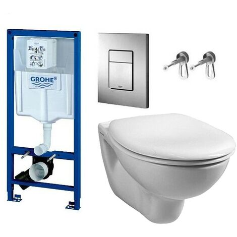 Grohe 38528 Rapid 1.13m Dual Flush Cistern Frame 38732 Cosmo Plate & Toilet Pan