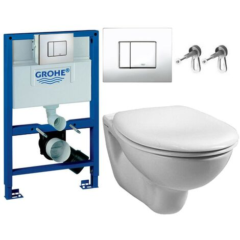 Grohe 38526 Rapid 0.82m Dual Flush Cistern Frame 38732 Cosmo Plate & Toilet Pan