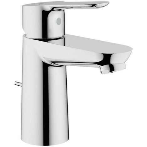Grohe 23356 BauEdge Single Lever Mono Basin Mixer Tap 1/2 Inch & Pop Up Waste
