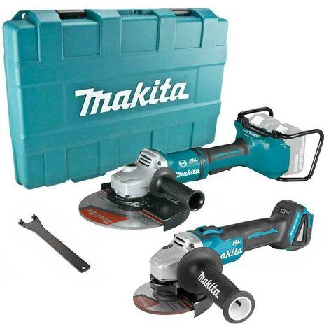 """Makita DGA900ZK 18v / 36v Cordless Brushless 9"""" + 4.5"""" DGA504 Angle Grinder Kit"""