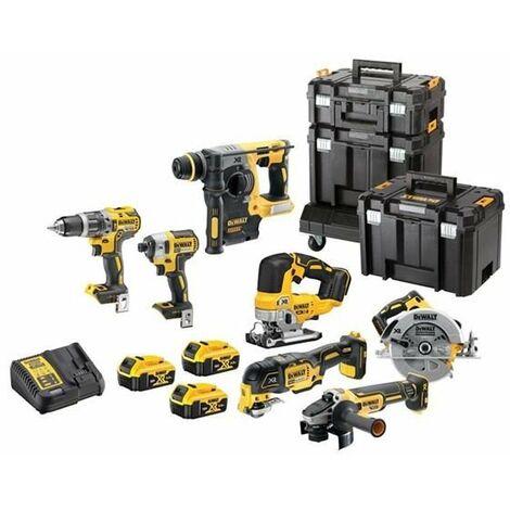 Dewalt DCK755P3T Cordless 18v 7 Piece Tool Kit + 3 x 5.0ah Batteries Charger