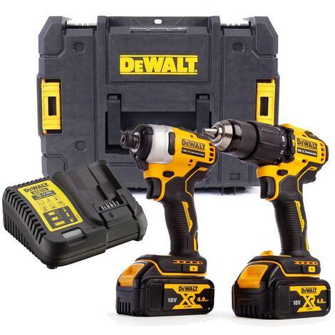 Dewalt DCK2062M2 18v Brushless DCD709 Combi Drill DCF809 Impact Driver 2 x 4.0ah