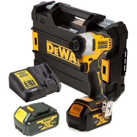 Dewalt DCF809M2 18v XR Brushless Impact Driver - 2x4.0ah Batteries Charger Tstak