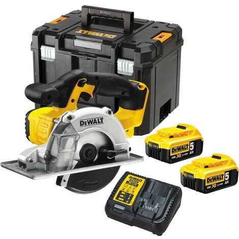 DeWalt DCS373P2 18v XR Metal Cutting Cordless Circular Saw 140mm - 2 x 5.0ah