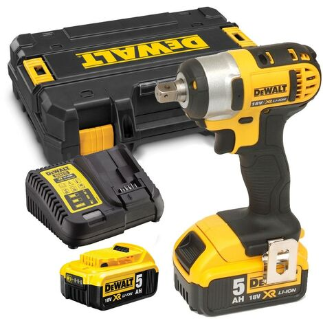 "Dewalt DCF880P2 18V XR Li-Ion 1/2"" Compact Impact Wrench - 2 x 5.0ah Batteries"