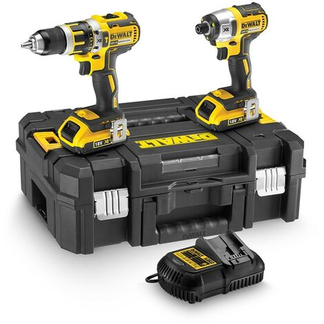 Dewalt 18v DCK259D2T Twin Pack DCD795 Combi Hammer Drill + DCF886 Impact Driver