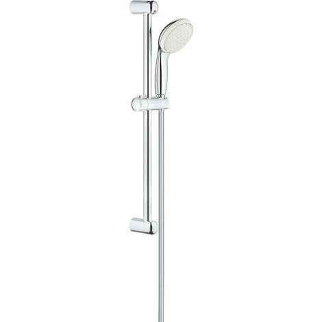 Grohe 27598 Tempesta 600mm Shower Riser Rail Chrome + 2 Spray Shower Head + Hose