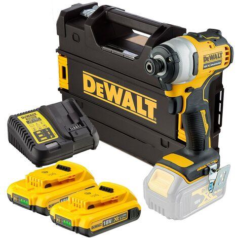 Dewalt DCF809D2 18v XR Brushless Impact Driver - 2x2.0ah Batteries Charger Tstak