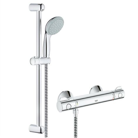 Grohe Shower Mixer Bar Grohtherm G800 EV Thermostatic + Tempesta Riser Rail Kit