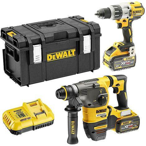 DeWalt DCK2033X2 Flexvolt 54v DCH333 SDS Hammer DCD996 Combi Hammer Drill 9.0ah