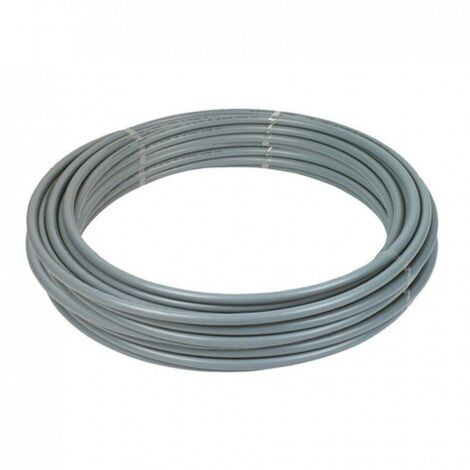Polypipe PolyPlumb PB2522B 22mm X 25m Coil Barrier Pipe - Grey