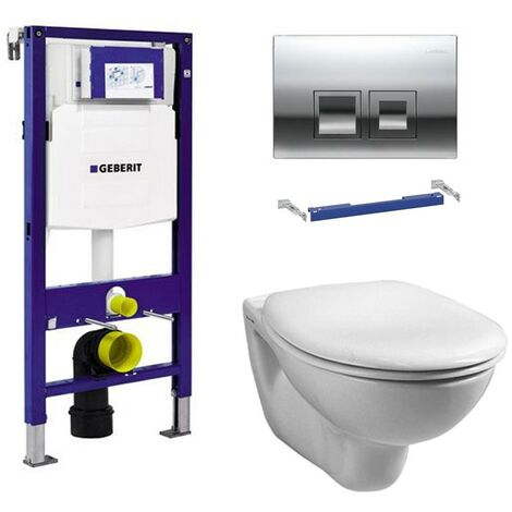 Geberit Duofix 1.12m WC Frame UP100 Delta Cistern & Delta50 Flush Plate & Pan