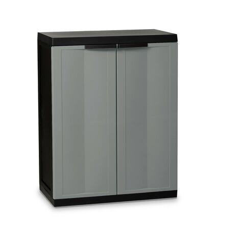 Kingfisher Medium Garden Storage Tool Cabinet Garage Shed Durable Plastic Shelf