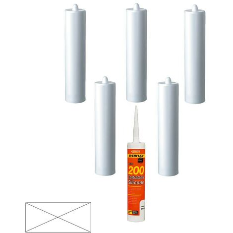 Everbuild Everflex 200 Contractors LMA Silicone Clear 295ml Size Pack of 6