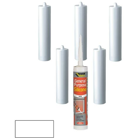 Everbuild General Purpose Silicone White C3 Size Pack of 6