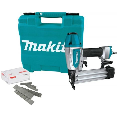 Makita AF506 18g Gauge Brad Air Pin Nailer with 50mm 18g Nails and Accessories