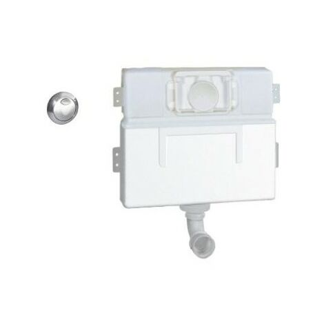 Grohe 38691 EAU2 Concealed Toilet Cistern Top & Front Access + Chrome Flush Button