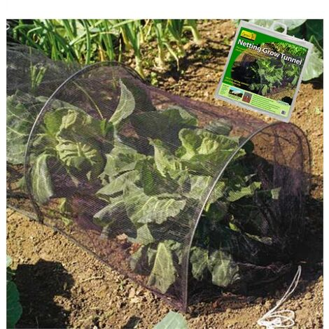 Gardman Strong Netting Grow Tunnel Polytunnel Cloche 3m Pest & Bird Protection