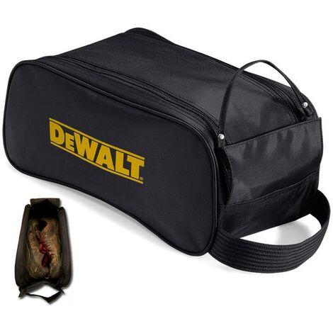 Dewalt Safety Shoe Bag Black + Logo - Heavy Duty Zip Mesh Football Boot Bag