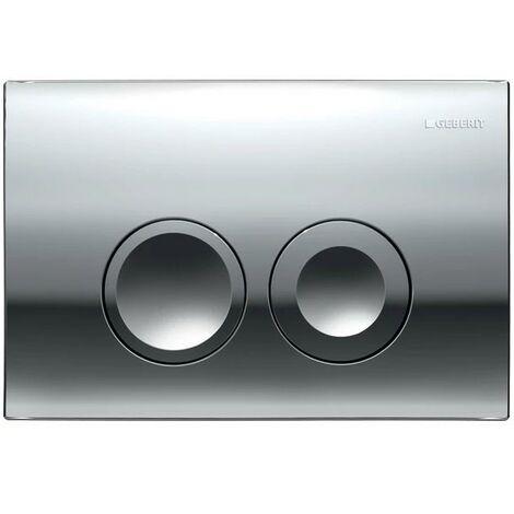 Geberit DELTA21 Gloss Chrome Dual Flush Plate DELTA 21 UP100 Concealed Cisterns