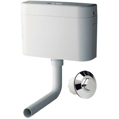 Grohe 37762 Adagio Concealed Pneumatic 6 Litre Toilet Cistern + Chrome Button