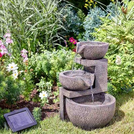 Smart Garden Solar Genoa Cascade Oriental Garden Water Feature Fountain