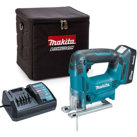 Makita JV183DW 18v Cordless G-Series Jigsaw + 1 x 1.3ah Battery, Charger + Bag